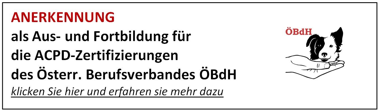 Anerkennung OebdH ACPD
